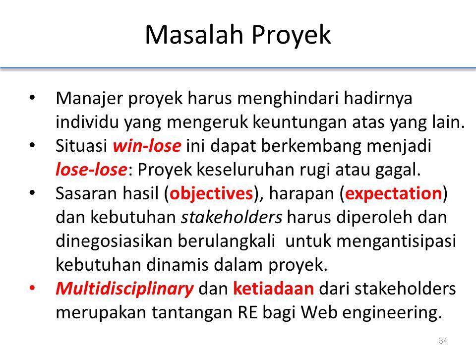Manajer proyek harus menghindari hadirnya individu yang mengeruk keuntungan atas yang lain.