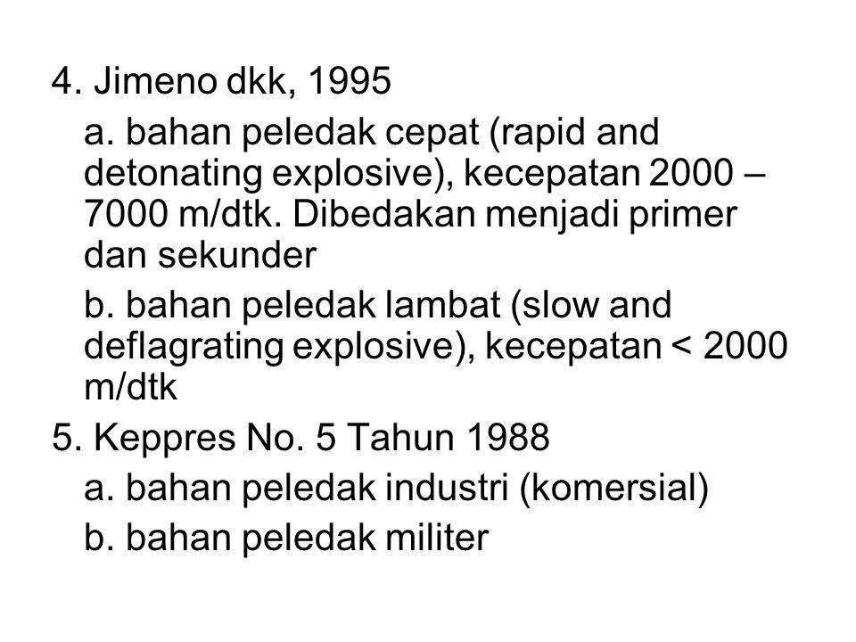 Bahan peledak lemah (Low explosive) → campuran dari potasium nitrat atau sodium nitrat, sulphur dan charcoal (Black powder) Bentuk BP : a.Granular/black blasting powder kecepatan pembakaran dikontrol oleh ukuran butir.