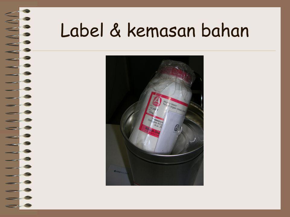 Label & kemasan bahan