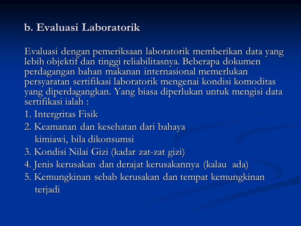 b.Evaluasi Laboratorik b.