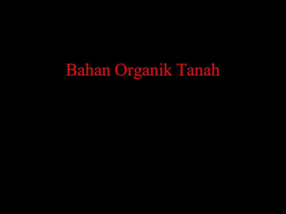 Komposisi Bahan Organik Tanah Bahan Organik Makro (16%) Senyawa Humik (50%) Senyawa Non Humik (30%) Biomasa Hidup (4%)