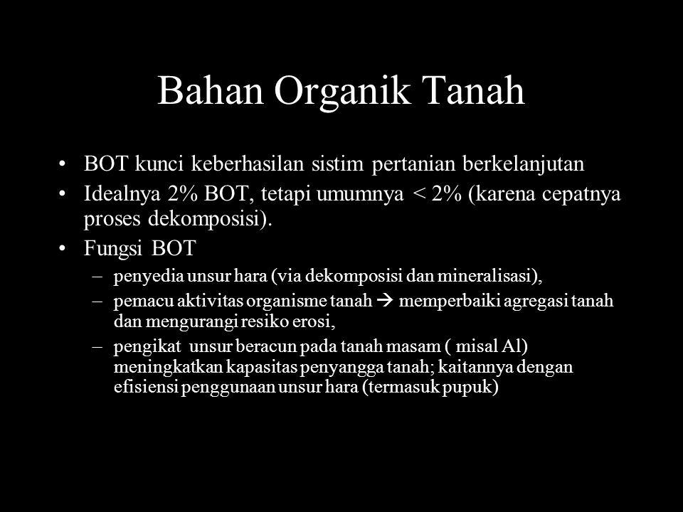 functional pool BOT bahan organik tanah mudah dilapuk/labil (decomposable or labile), bahan organik tanah sukar dilapuk (resistant),