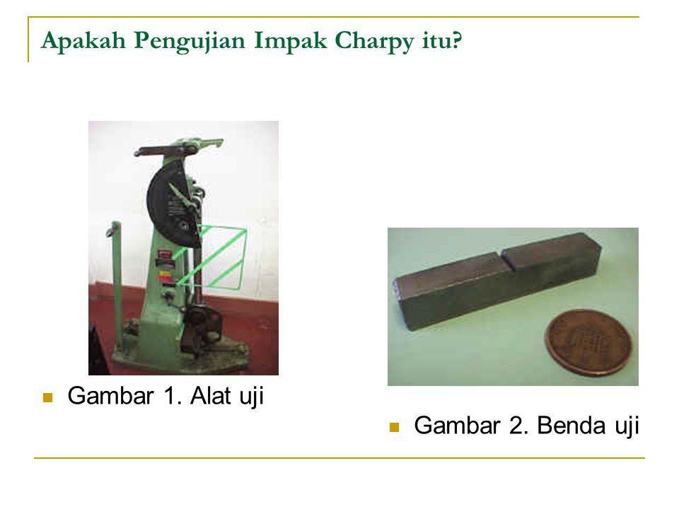 Gambar 1. Alat uji Gambar 2. Benda uji Apakah Pengujian Impak Charpy itu?