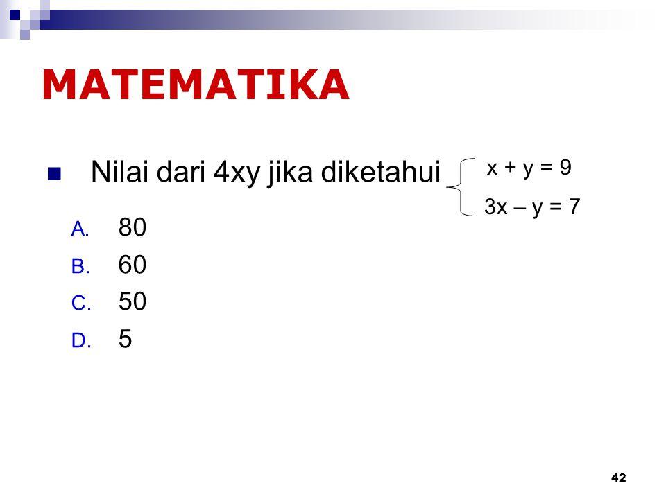 41 2/3 + 1/5 = … A. 15 B. 20 C. 30 D. 13/15 Matematika