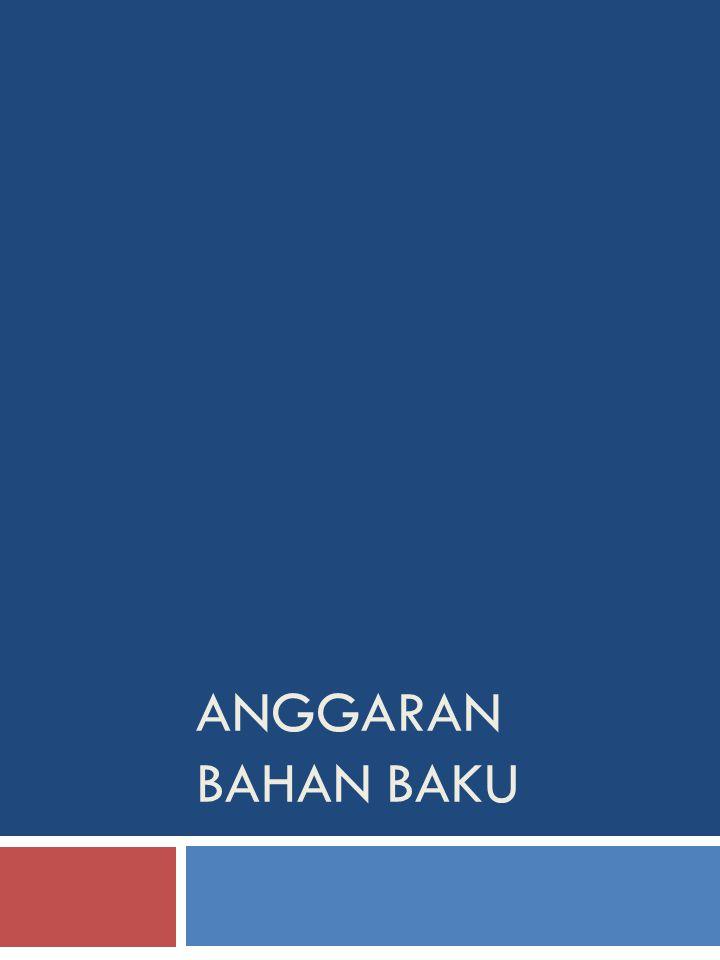 ANGGARAN BAHAN BAKU