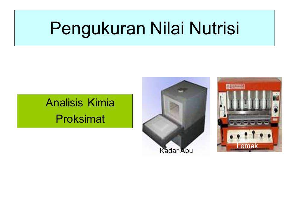 Pengukuran Nilai Nutrisi Analisis Kimia Proksimat Kadar Abu Lemak