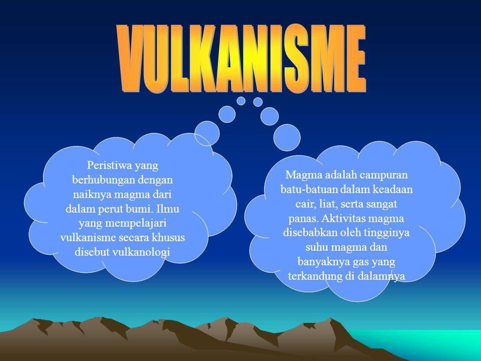 Peristiwa yang berhubungan dengan naiknya magma dari dalam perut bumi. Ilmu yang mempelajari vulkanisme secara khusus disebut vulkanologi Magma adalah