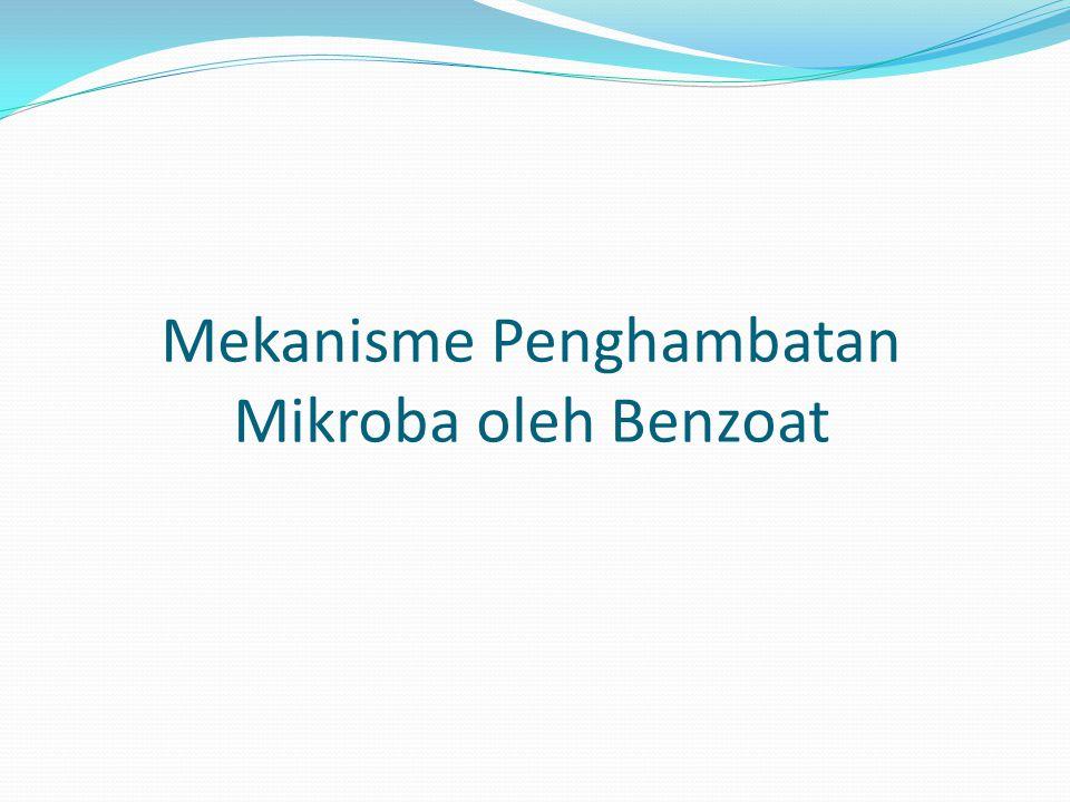 Mekanisme Penghambatan Mikroba oleh Benzoat