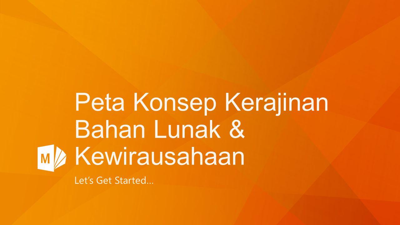 Peta Konsep Kerajinan Bahan Lunak & Kewirausahaan Let's Get Started…