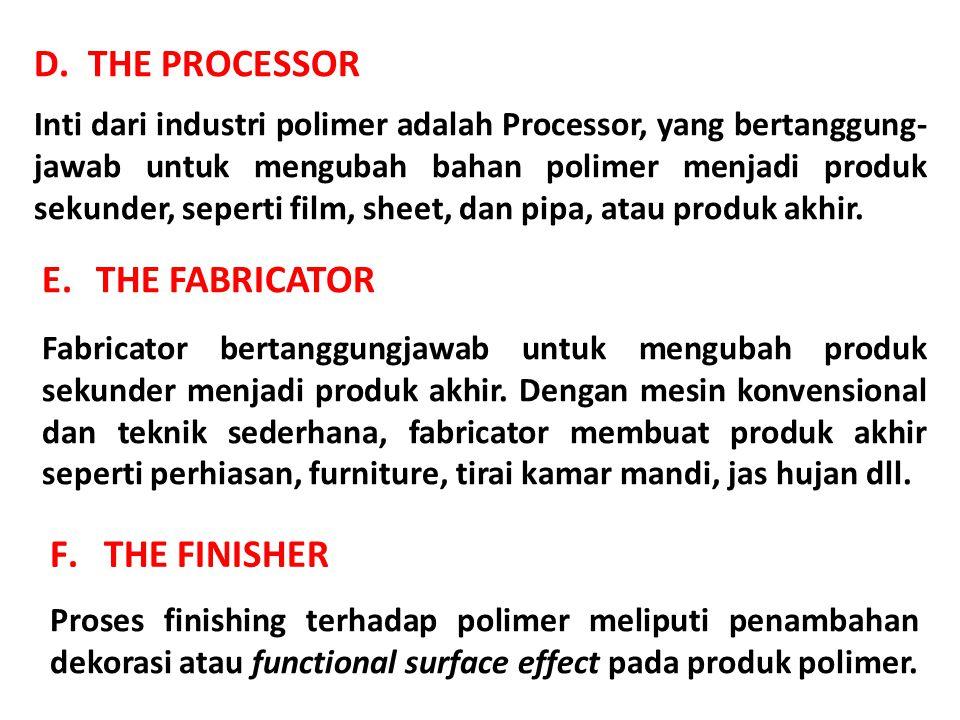 Polypropylene memiliki sifat listrik dan isolasi yang baik, inert terhadap bahan kimia, dan tahan air.