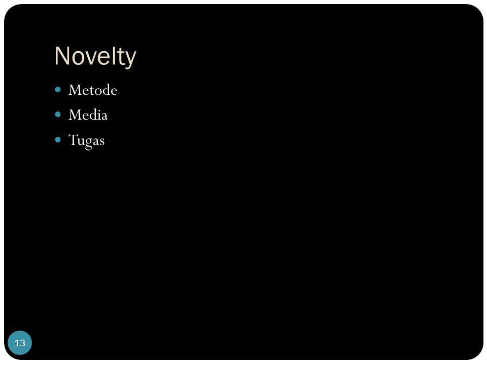 Novelty 13 Metode Media Tugas