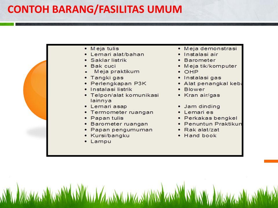 CONTOH BARANG/FASILITAS UMUM