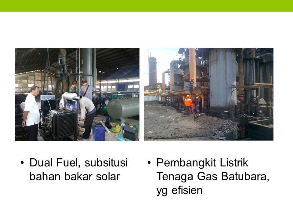 Pembangkit Listrik Tenaga Gas Batubara, yg efisien Dual Fuel, subsitusi bahan bakar solar
