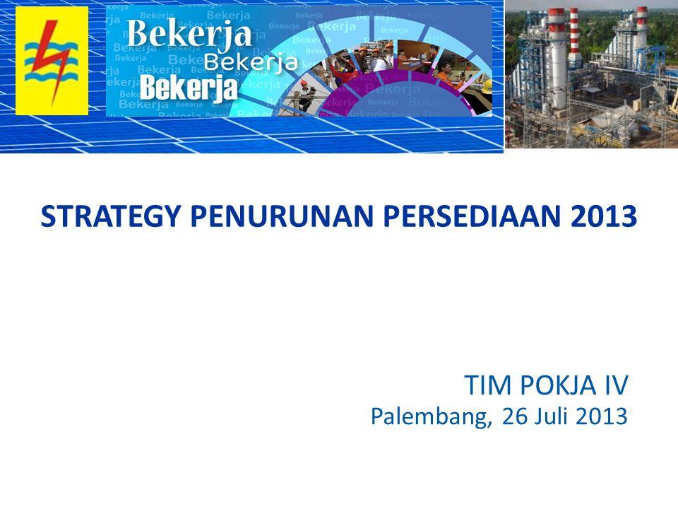 TIM POKJA IV Palembang, 26 Juli 2013 STRATEGY PENURUNAN PERSEDIAAN 2013