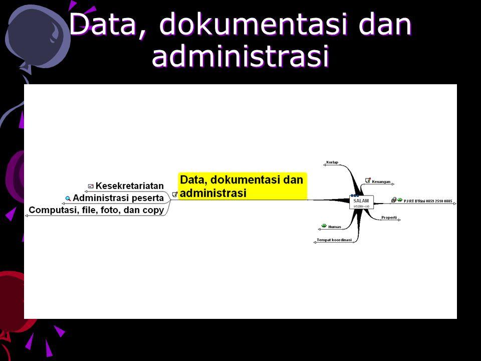 Data, dokumentasi dan administrasi