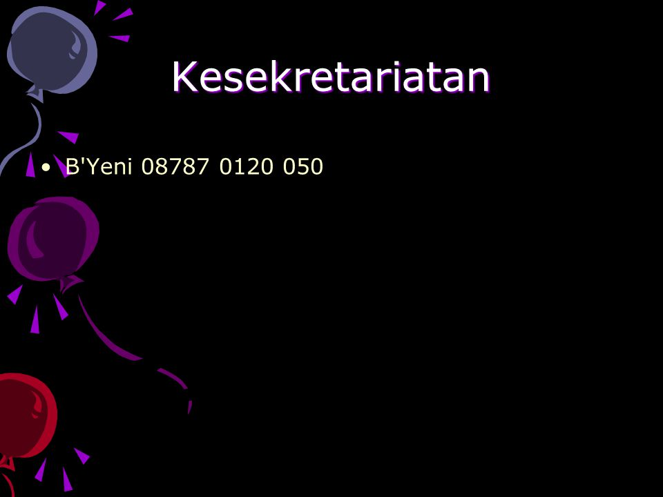 Kesekretariatan B'Yeni 08787 0120 050