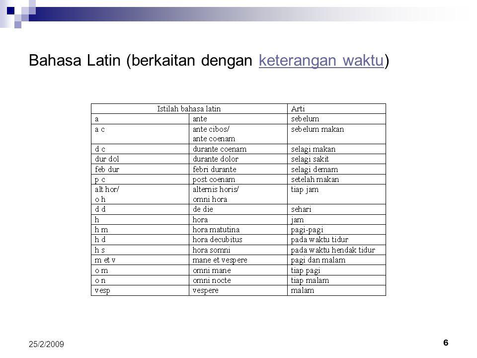 27 25/2/2009 Latihan 3 (pemahaman resep) R/ Caps c.