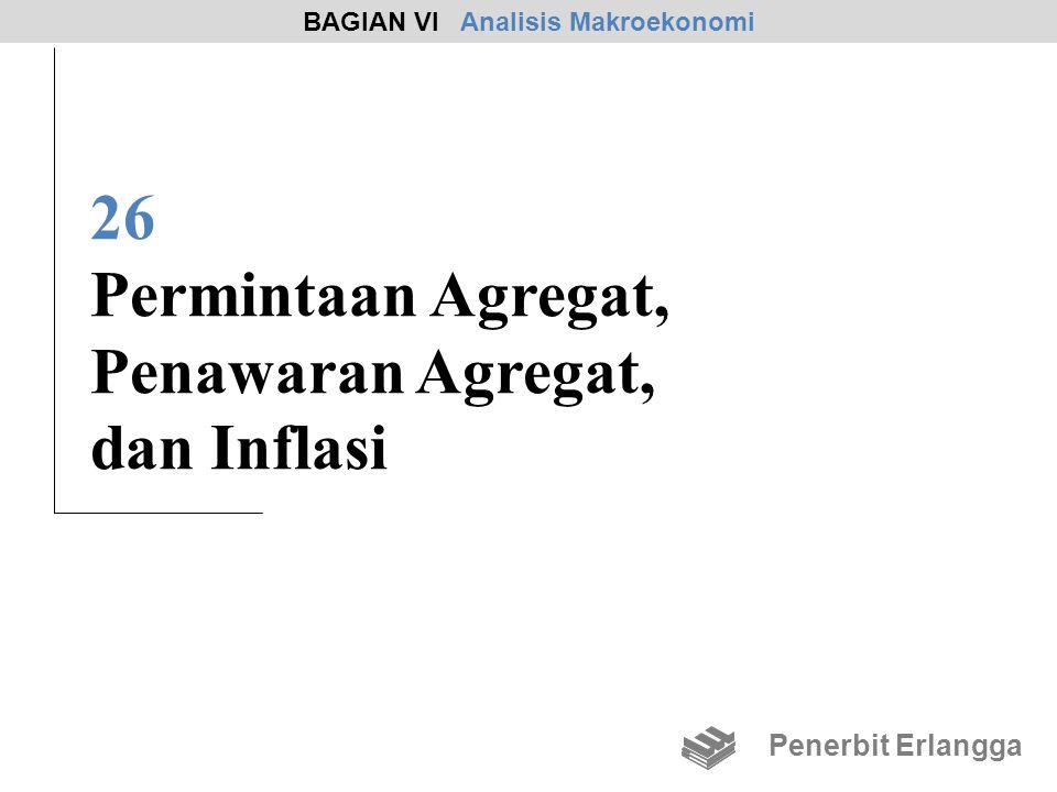 26 Permintaan Agregat, Penawaran Agregat, dan Inflasi BAGIAN VI Analisis Makroekonomi Penerbit Erlangga