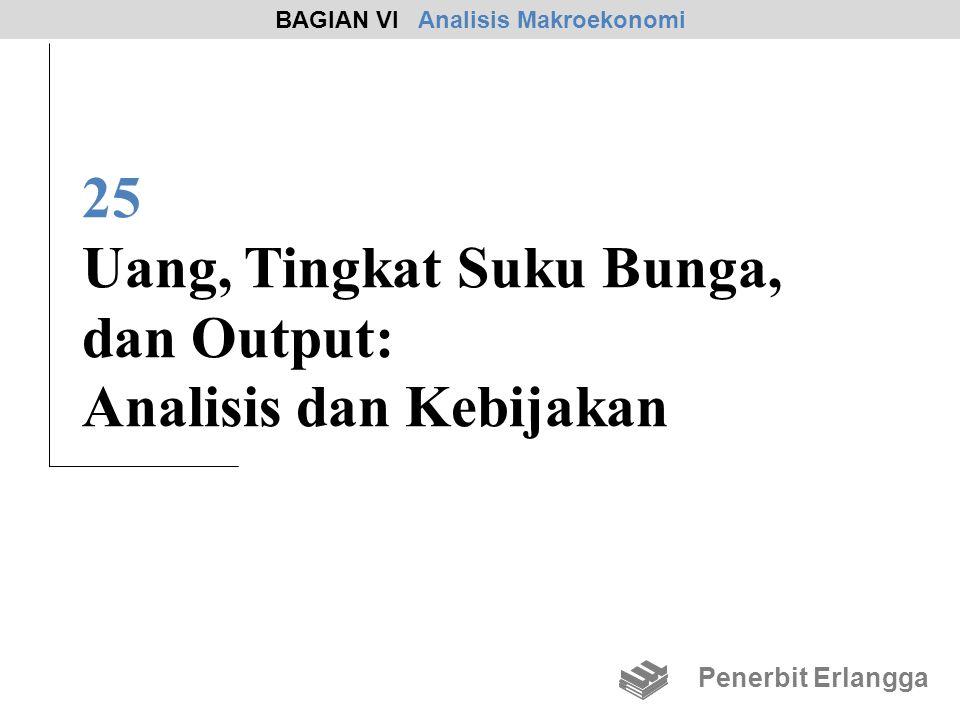 25 Uang, Tingkat Suku Bunga, dan Output: Analisis dan Kebijakan BAGIAN VI Analisis Makroekonomi Penerbit Erlangga