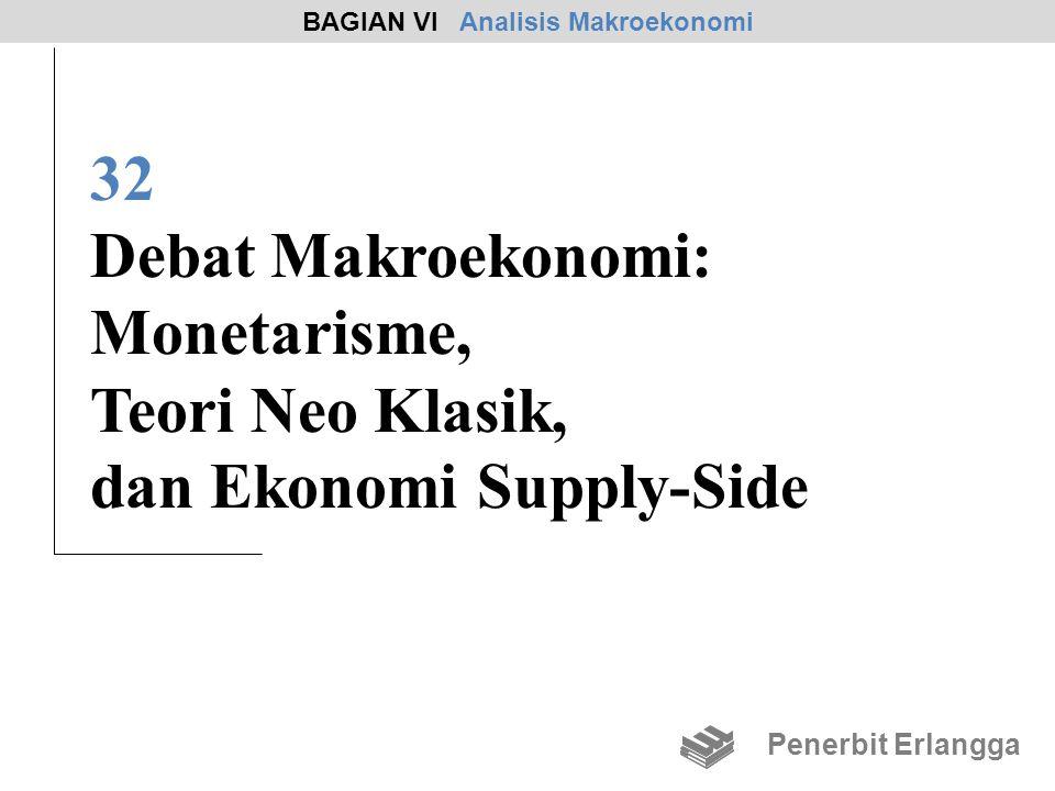 32 Debat Makroekonomi: Monetarisme, Teori Neo Klasik, dan Ekonomi Supply-Side BAGIAN VI Analisis Makroekonomi Penerbit Erlangga