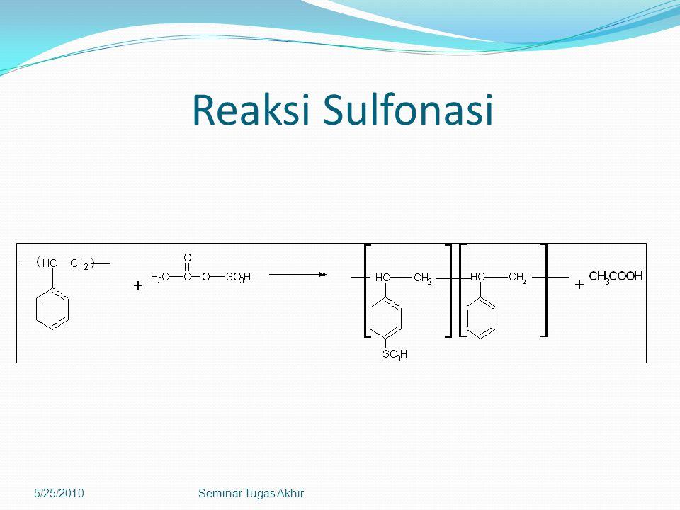 Reaksi Sulfonasi 5/25/2010Seminar Tugas Akhir