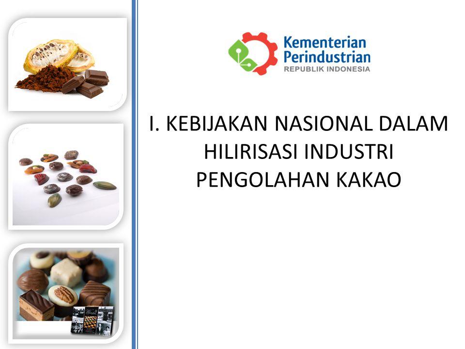 4 a.Indonesia merupakan negara produsen kakao nomor 3 di dunia dengan total produksi pada tahun 2013 mencapai 410 ribu ton (berdasarkan data International Cocoa Organization) atau + 10% dari produksi kakao dunia (4,1 juta ton) pada tahun 2020 di prediksi produksi kakao akan mencapai 1,2 juta ton.
