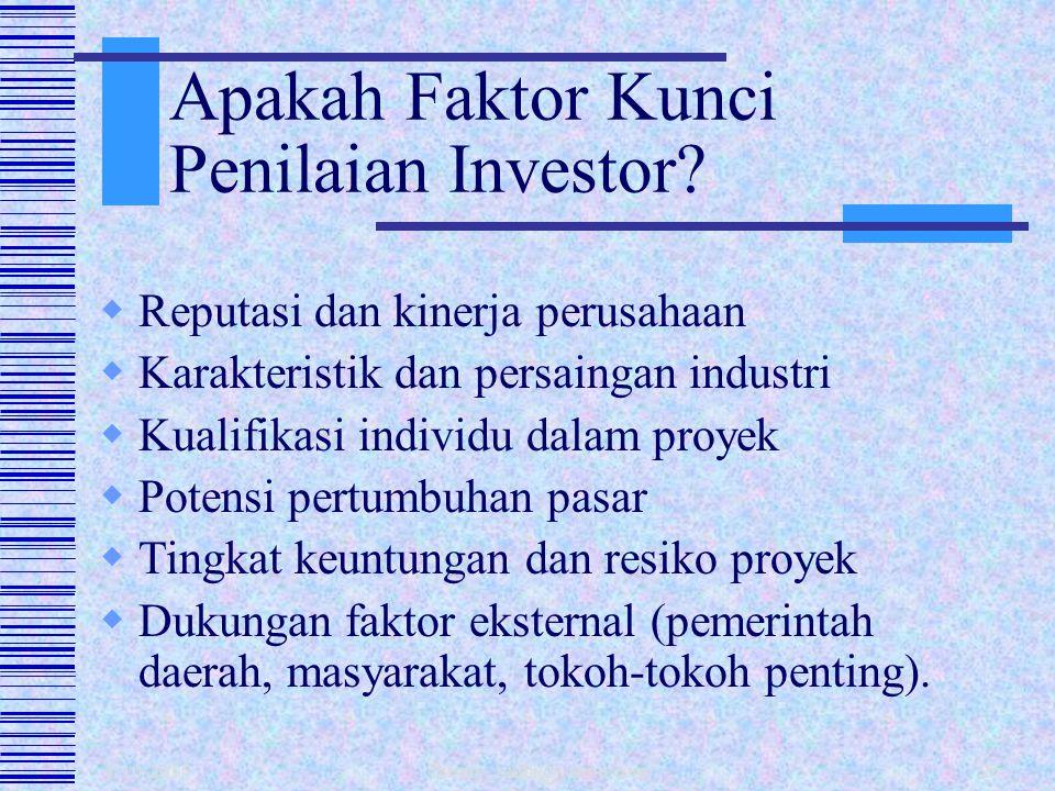 1/10/2015 fahmy_radhi@yahoo.com25  Proporsi Hutang dan Modal Sendiri Penekanan pada kontrol proyek atau sharing resiko proyek dgn pemberi pinjaman? 