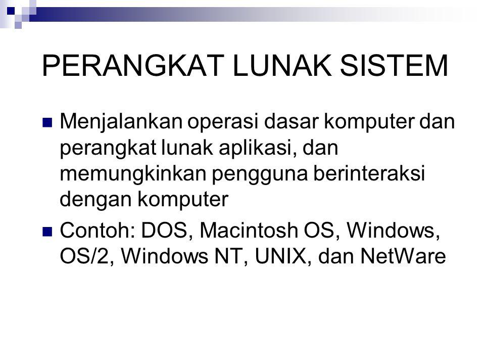 KATEGORI PERANGKAT LUNAK SISTEM Operating System (OS) Utility Program Language Translator