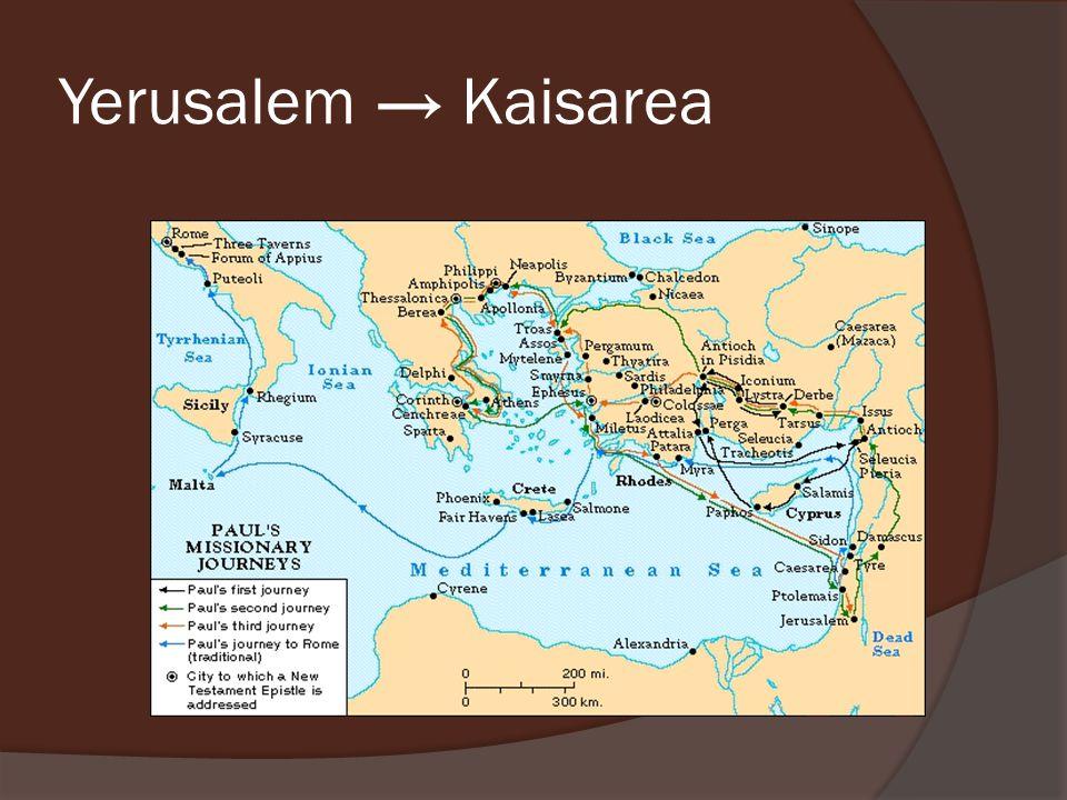 Yerusalem → Kaisarea