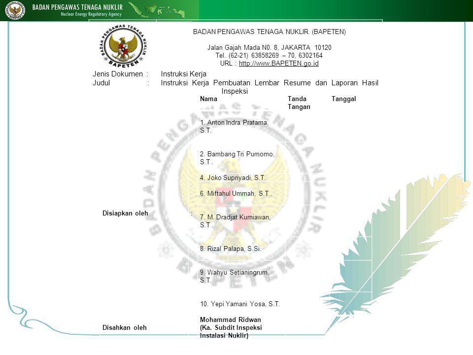 NamaTanda Tangan Tanggal Disiapkan oleh: 1. Anton Indra Pratama, S.T.