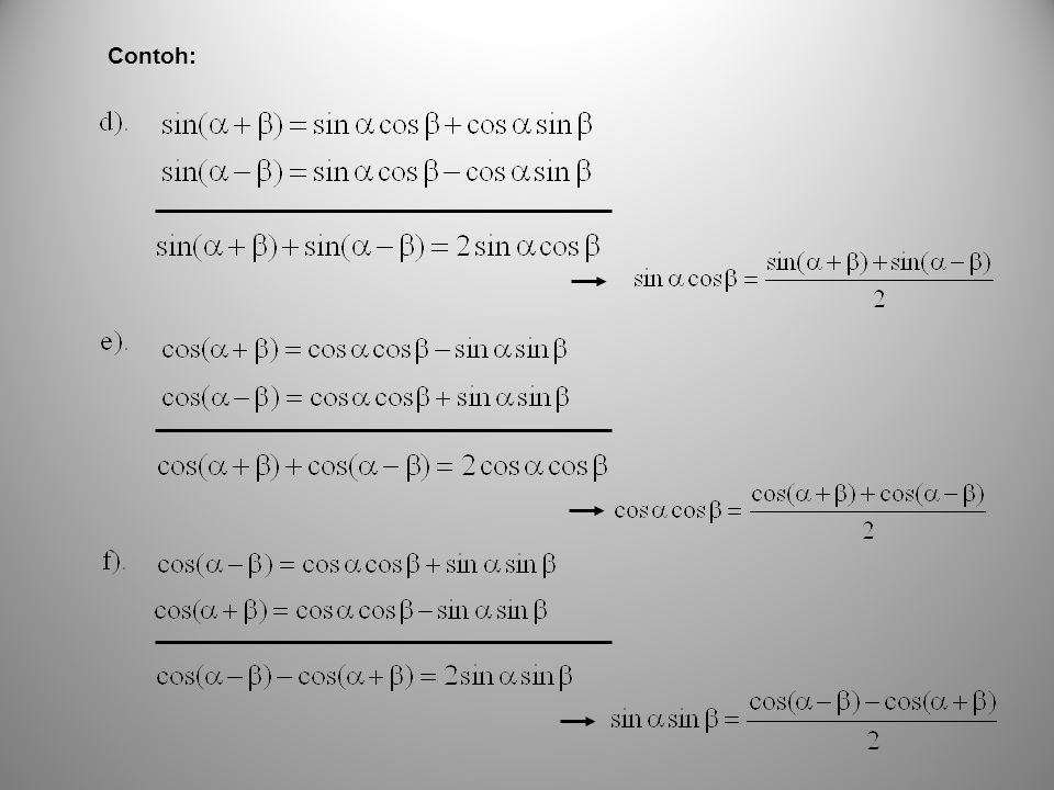 Fungsi Trigonometri Normal