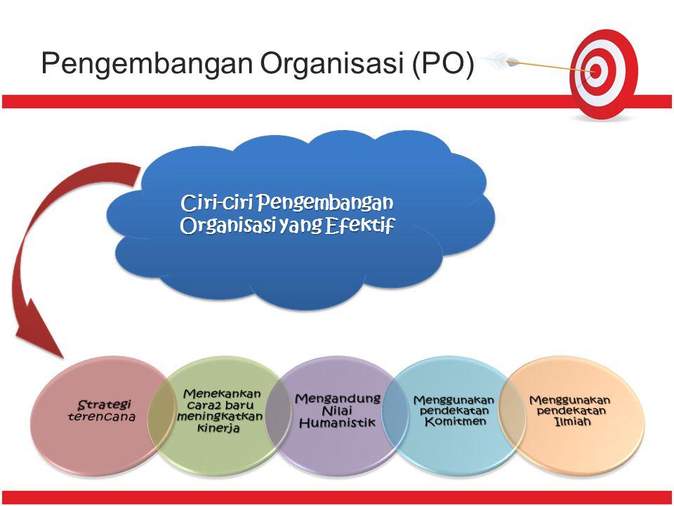 Pengembangan Organisasi (PO) Bagaimana Proses Pengembangan Organisasi ?? Bagaimana Proses Pengembangan Organisasi ?? 3. Pengembangan Strategi Perubaha