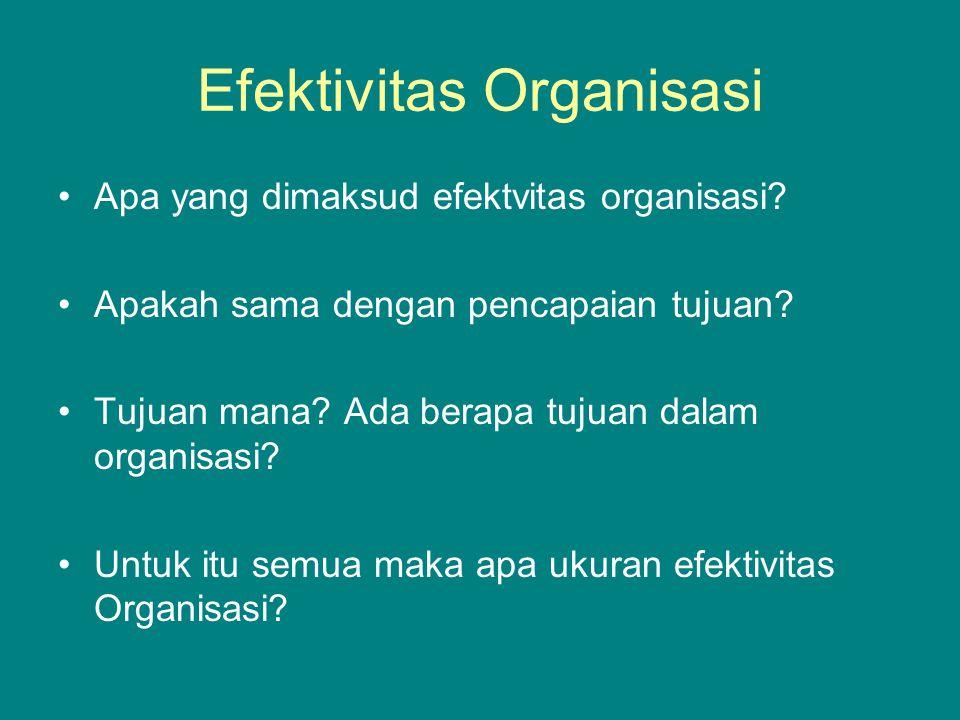 Efektivitas Organisasi Apa yang dimaksud efektvitas organisasi.