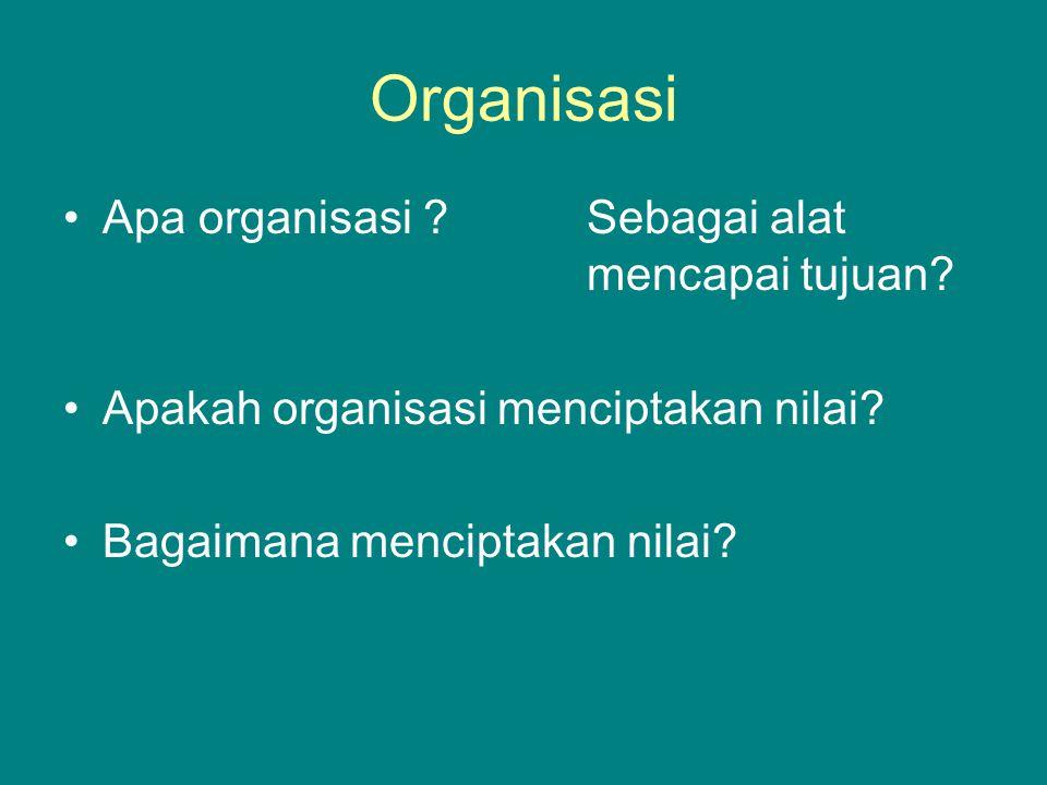 Mengapa organisasi harus ada.Untuk mencapai tujuan.