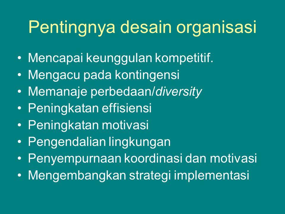 STRATEGI SEBAGAI PENYEBAB STRUKTUR 1.