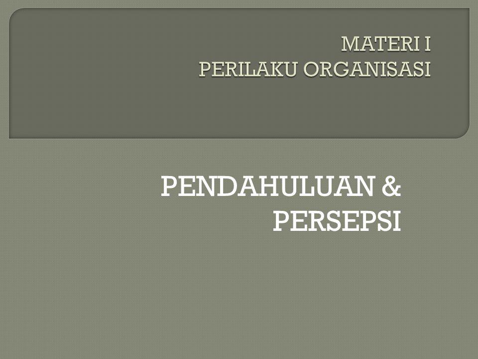PENDAHULUAN & PERSEPSI