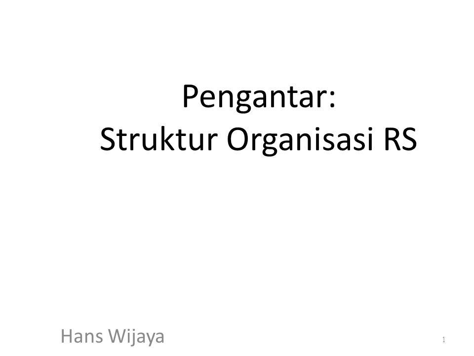 Pengantar: Struktur Organisasi RS Hans Wijaya 1