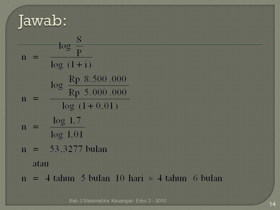 Bab 3 Matematika Keuangan Edisi 3 - 2010 14