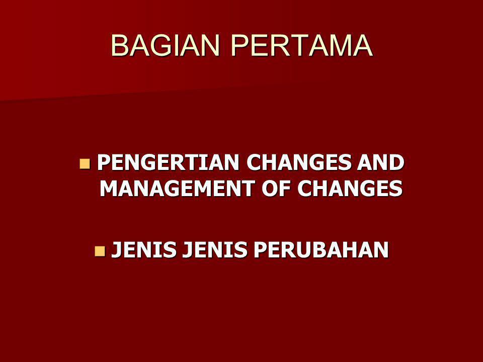 What is a Change Apa Definisi Perubahan Itu Perubahan ialah pergantian keadaan dari yang lama kepada yang baru.