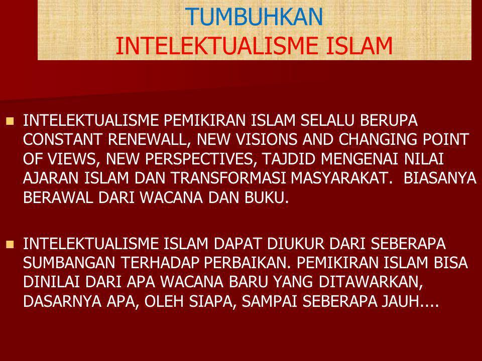 TUMBUHKAN INTELEKTUALISME ISLAM INTELEKTUALISME PEMIKIRAN ISLAM SELALU BERUPA CONSTANT RENEWALL, NEW VISIONS AND CHANGING POINT OF VIEWS, NEW PERSPECT