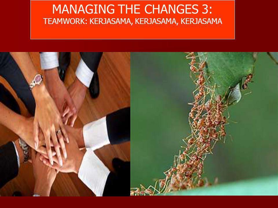 MANAGING THE CHANGES 3: TEAMWORK: KERJASAMA, KERJASAMA, KERJASAMA