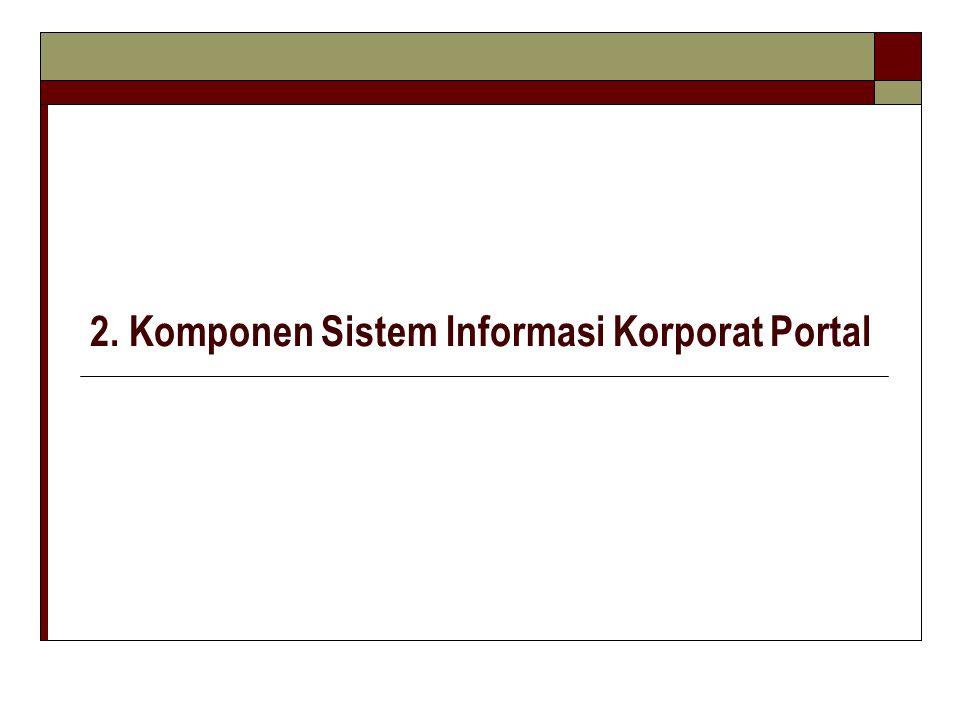 2. Komponen Sistem Informasi Korporat Portal