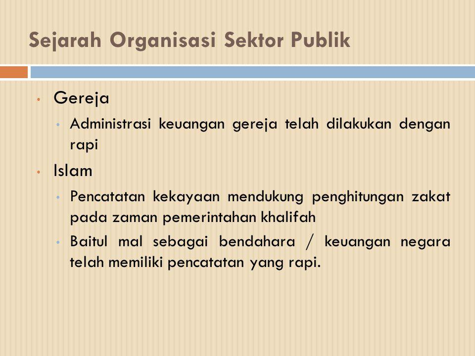 Sejarah Organisasi Sektor Publik Gereja Administrasi keuangan gereja telah dilakukan dengan rapi Islam Pencatatan kekayaan mendukung penghitungan zaka