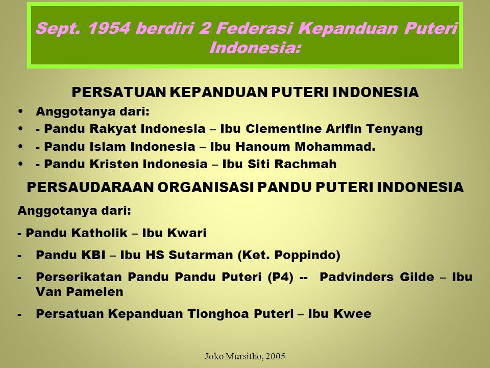 12 Maret 1952 Kepmen PP & K No: 8977/Kab.