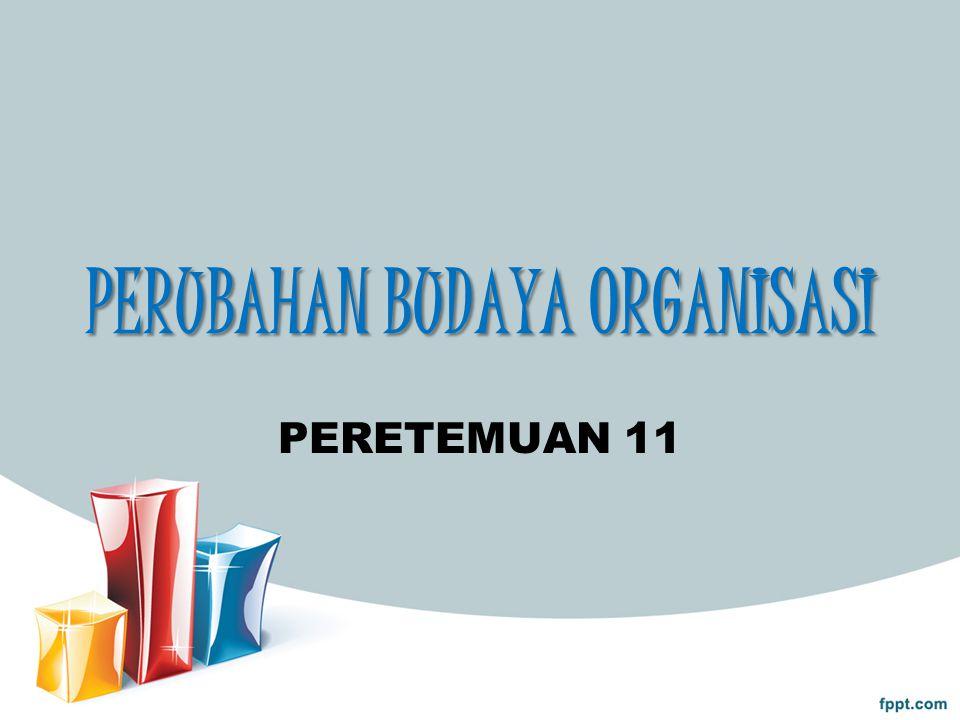 PERUBAHAN BUDAYA ORGANISASI PERETEMUAN 11