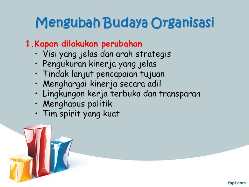 Mengubah Budaya Organisasi 2.