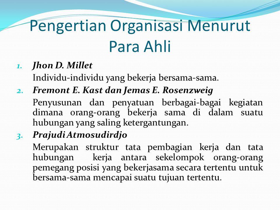 B. Pengertian Organisasi Organisasi lahir karena ketidakterbatasan kebutuhan manusia dan keterbatasan kemampuan manusia dalam memenuhi kebutuhannya te