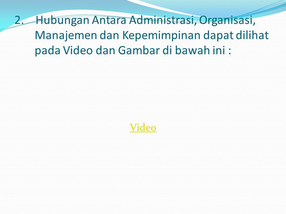 Dalam pengertian manajemen ada dua fungsi, di antaranya : 1.