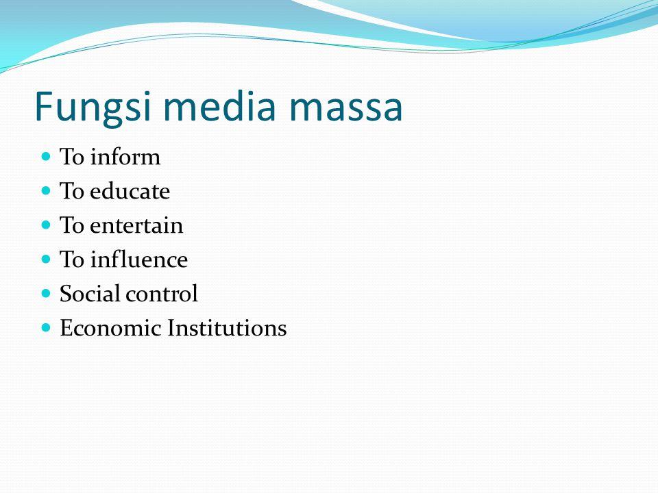 Membangun Media Relations Memahami media : karakter Kekuatan dan kelemahan cara memproduksi berita kebijakan editorial frekuensi penerbitan tanggal terbit proses produksi, daerah sirkulasi/ siaran, metode distribusi, dll.