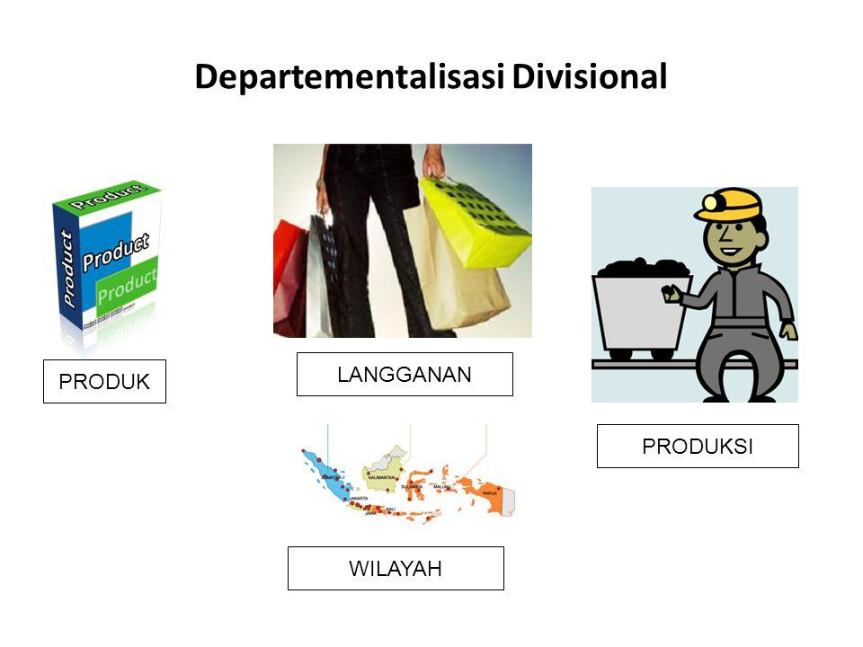 Departementalisasi Divisional PRODUK WILAYAH LANGGANAN PRODUKSI